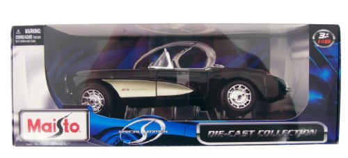 Diecast 1957 Corvette (Maisto Die-cast 1:18 Scale 1957 Chevrolet Corvette Black)