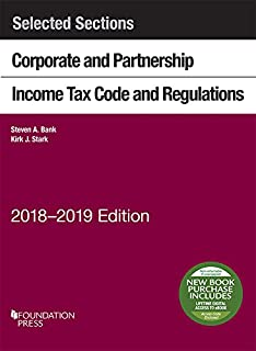 Amazon fundamentals of corporate taxation university casebook selected sections corporate and partnership income tax code and regulations 2018 2019 selected fandeluxe Image collections