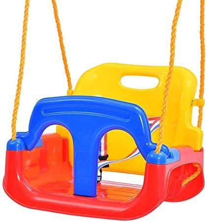 屋外スイング、子供のスイング屋外の赤ちゃんのおもちゃ屋内屋外4 In1スイングセット屋外吊り椅子ベビースイングシート6 M以上(屋外)