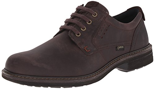 ECCO Men's Turn GTX Plain Toe Oxford, Mocha, 44 EU/10-10.5 M US ()