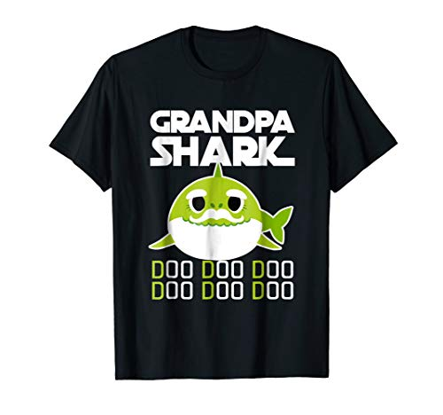 Grandpa Shark Shirt Fathers Day Gift from Wife Son Daughter