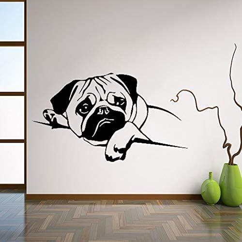 Ajcwhml Cachorro Pug Perro Tatuajes de Pared Etiqueta Engomada de Vinilo para Mascotas Animales Lindos Decoración para el Hogar Habitación Diseño de Interiores Arte de La Pared para Vivero 96x53cm: Amazon.es: Hogar
