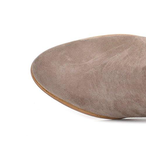 Elia B Schuhe Leonie Boots aus Wildleder Damen Taupe