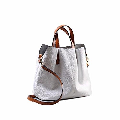 Sikye Fashion Leather Women Handbag Shoulder Bags Messenger Bag Shoulder Handbag For Women (White)