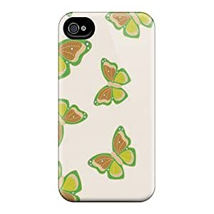 Shock-Absorbing Hard Phone Case For Iphone 4/4s With Custom Nice Butterfly Pattern JasonPelletier