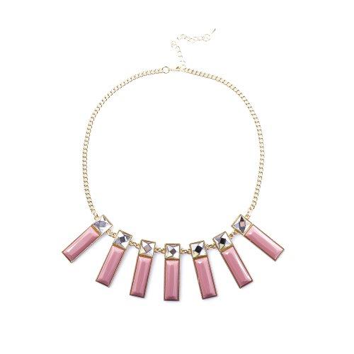 Accessoryo - Oblong Collier Avec Pendentif Rose Élégant