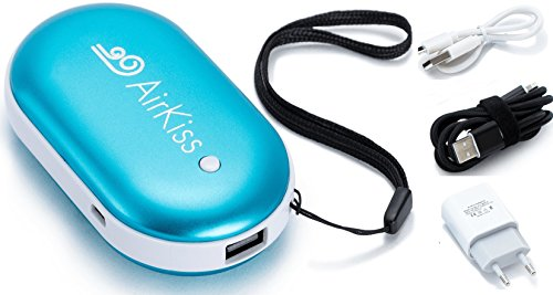 AirKiss Power Bank & Hand Warmer - Fast wall...
