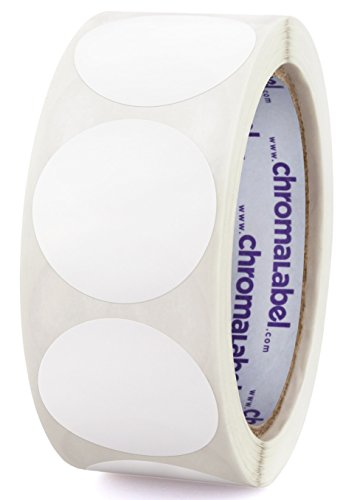 ChromaLabel 1-1/2 inch Color-Code Dot Labels   500/Roll (White)