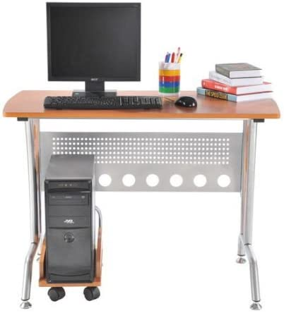 HOMCOM Mesa Ordenador PC 105x55x76cm Mueble Torre Escritorio ...
