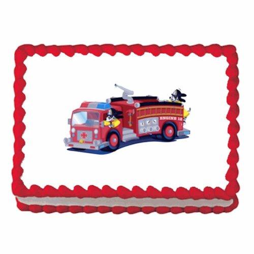 Firetruck ~ Edible Cake / Cupcake Topper -