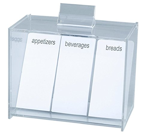 Meadowsweet Kitchens Acrylic Create Your Own Recipe Card Box ()