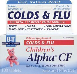 Pack of 1 x Boericke and Tafel Children's Alpha CF - 100 Tablets by Boericke & Tafel Alpha Cf 100 Tab