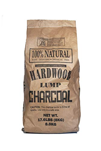 Eco Charcoal Brazilian 17.6 LB Extra Large Super Premium All Natural Hardwood Lump Charcoal