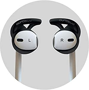 AURABUD-BLACK- Prevents earbuds from falling off
