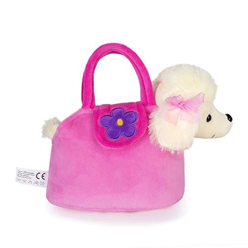 - Lazada Girls' Plush Puppy Purse Toddler Carrying Bag Toy Poodle Dog 6