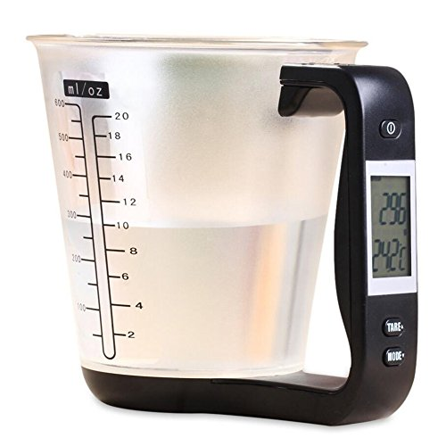Kitchen Measuring Jug, Electronic Scale, Digital Measuring Cup Scale,Weighing Device Thermometer with LCD Display Measuring Cup Kitchen Accessories
