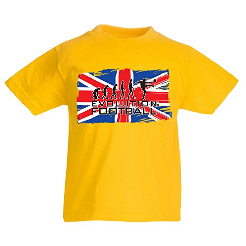 fan products of lepni.me N4505K Kids T-Shirt The Evolution Of Football (3-4 Years Yellow Multicolor)