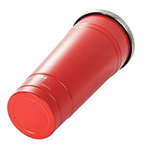 Water Bottle, Double Wall Tumber with Straw, Stainless Steel Insulated Coffee Cup with Lid for Both Cold & Hot Drinks, 23 OZ Rambler, Red