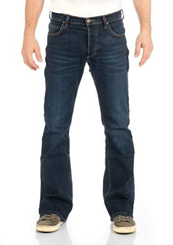 Lee Herren Jeans Jeanshose Denver Bootcut Denim Stretch Hose Baumwolle Blau w30-w44