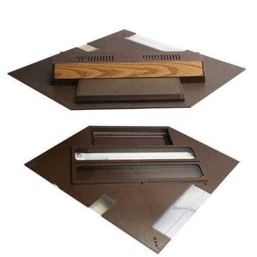 Perfecto Manufacturing APF21501 Marineland Perfect-a-Lite Fluorescent Full Aquarium Specialty Lighting Hoods, 44-Gallon, Pentagon Oak by Perfecto