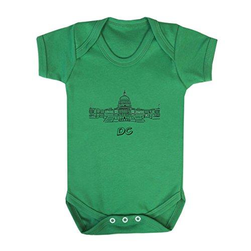 Washington Dc Capital Baby Bodysuit One Piece Kelly Green Newborn