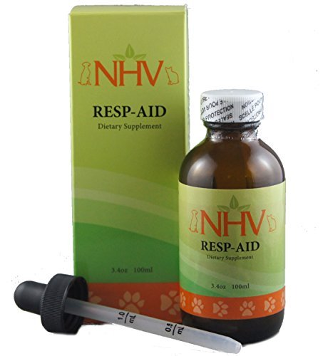 NHV Resp-aid - Natural Support for Respiratory Disorders, Kennel Cough and Bronchial Infections in dogs and cats, 100ml w/dropper by NHV