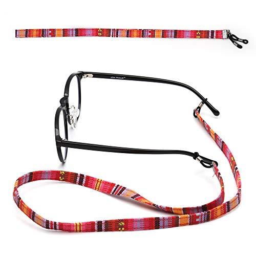 2 Mujer Gafas Sol Paquete 2 Retenedor Niños Lectura Cuello Correa Plano Gafas de del Vintage de Cordón de Étnico de Titular Cuerda Paquete de Gafas Anteojos Cadena Cable 71Fgnwq6
