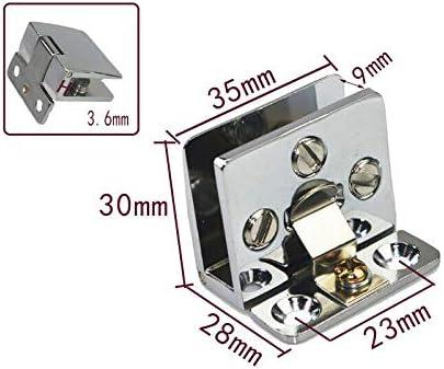 Vogueing Tool bisagra duradera para puerta de armario de cristal para cristal de 5 a 8 mm Abrazadera de puerta con bisagra de aleaci/ón de zinc negro