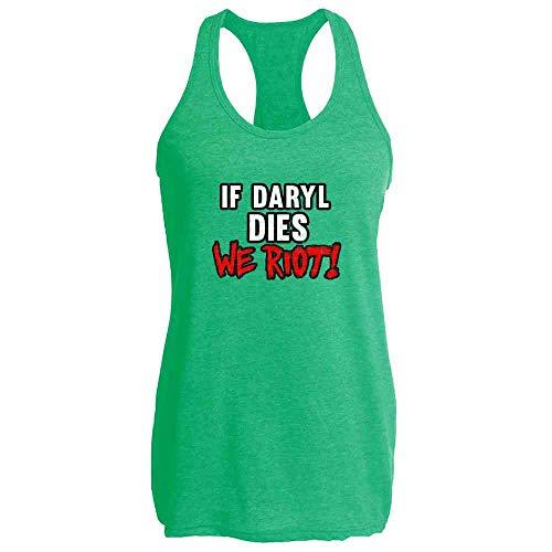 Pop Threads If Daryl Dies We Riot! Heather Kelly S Womens Tank Top -