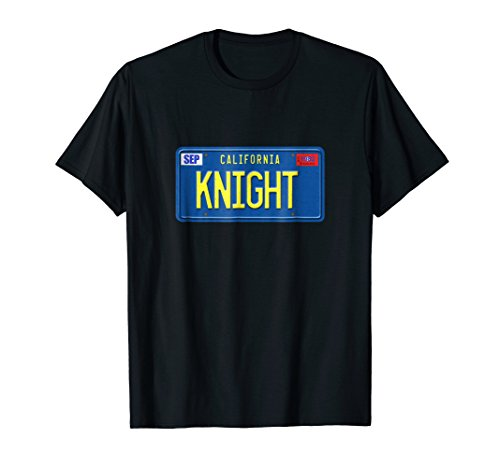 Knight License plate T-shirt for men, women or kids
