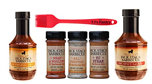 Kansas Citys Jack Stack Ultimate Variety Pack + Bonus TJs Pantry Silicone Basting - Cost Barbecue