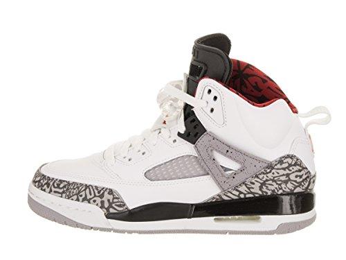 Red 5 Shoe BG White Basketball Grey Nike Varsity Kids Cement US 5 Jordan Kids Spizike Jordan xP77w0gqH