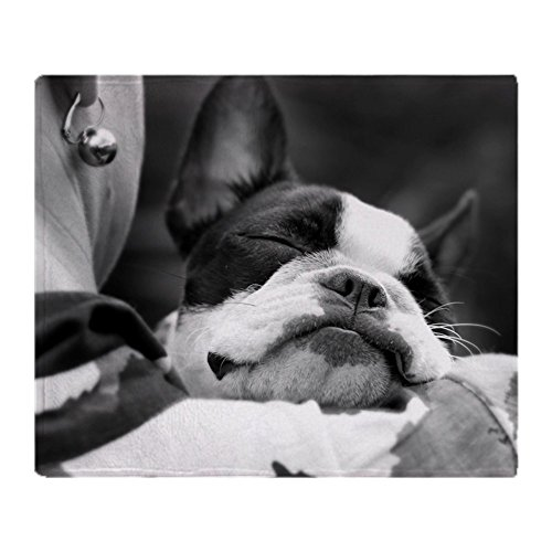 CafePress Sleeping Boston Terrier Soft Fleece Throw Blanket, 50