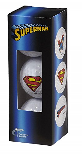 Creative Covers for Golf Unisexsuperman 3Pc Golf Ball Assortment, White