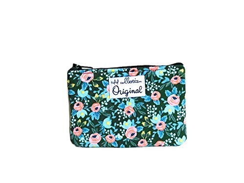 Coin Purse Floral, Change Purse, Small Coin Purse, Fabric Wallet by 144 Collection