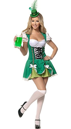 Dyg Smart New Oktoberfest Women Sexy Green Dress Halloween Costume Beer Girl Large / L