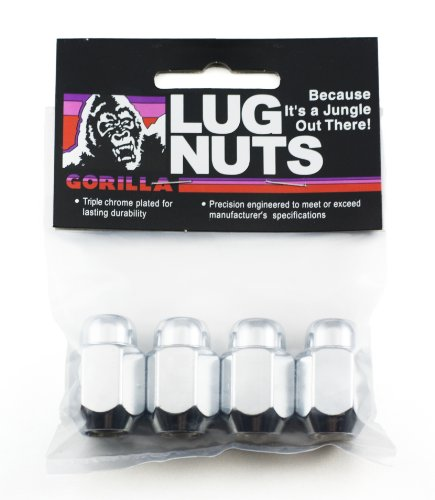 Gorilla Automotive 71117B Acorn Lug Nuts (10mm x 1.25 Thread - 10mm Lug Nuts Wheel