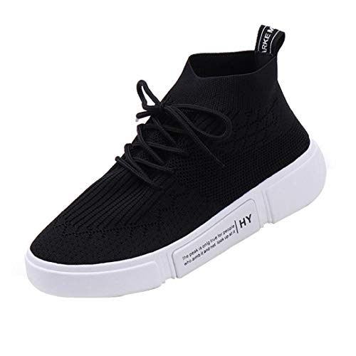Orlimar Shoe Bag - UOKNICE Women Girl Mesh Breathable Round Toe Lace-up Sneakers Gym Student Running Shoes Casual Shoes(Black, CN 40(US 7.5))