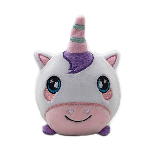Millffy 3.5'' Super Squishy Foamed Stuffed Animal Squeezable, Cute, Soft, Adorable Stuffed Plush Toy (Unicorn, 3.5'' (Dia.8.8cm Ball))