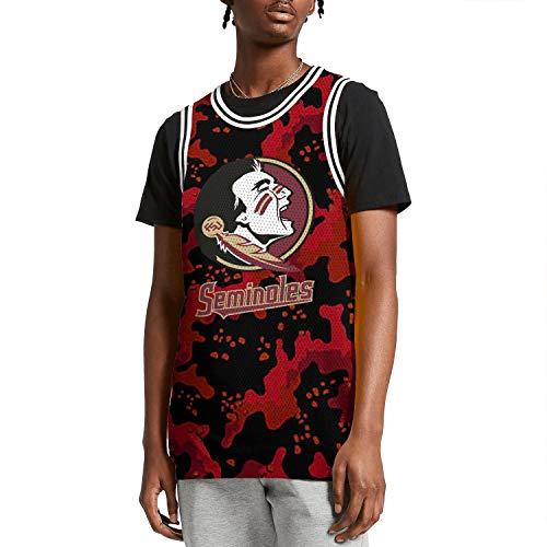 ilzeu Men's Camouflage Print Tank Top Moisture Wicking Basketball Vest Sports Jersey