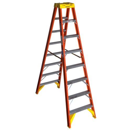 Werner (T6208) Twin Step Ladder, Fiberglass