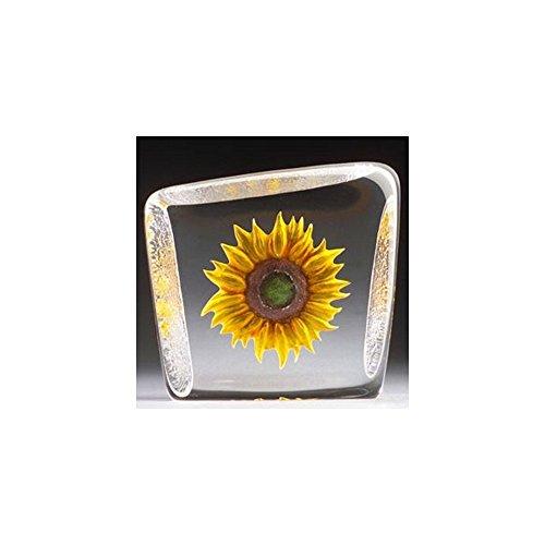 Mats Jonasson Yellow Sunflower Crystal MAT33869