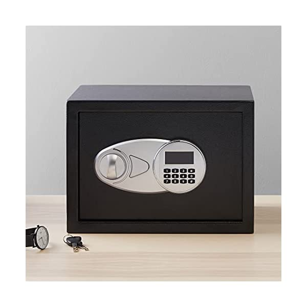 Amazon Basics Steel Security Safe with Programmable Electronic Keypad - Secure Cash, Jewelry, ID Documents - Black, 0.5… 6