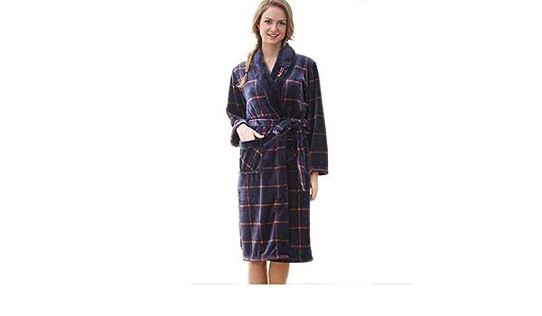 6ee84c7a Batas de Lana para Mujer Bata de Felpa Suave Suave para Mujer Bata de baño  Pijama