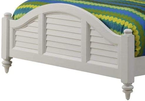 Bermuda White Brushed King Bed Frame by Home Styles