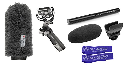 Sennheiser MKE600 Shotgun Microphone Bundle With Rycote Softie, Rycote Pistol Grip Shock Mount & 2 Cable Straps