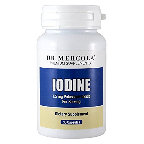 Dr. Mercola Iodine Supplements 1.5 mg 30 capsules – Thyroid Glandular Supplement – Helps Maintain Healthy Skin, Teeth And Hair – 30 Day Supply – Natural Licap Potassium Iodine Pills