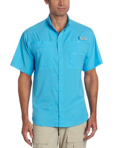 Columbia Men's Tamiami II Short Sleeve Shirt, Small, Riptide