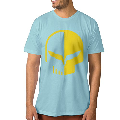 PTCYM Chevrolet Logo With Punisher Skull Symbol Designed Men's T-shirts S - Ban Customized Ray