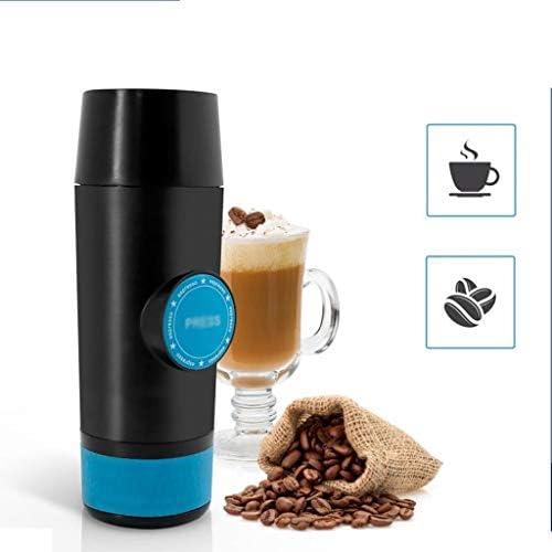 SPNEC PQQWW Mini Espresso Cafetière Portable Chaude et Froide d'extraction Machine à café électrique USB en Poudre Making